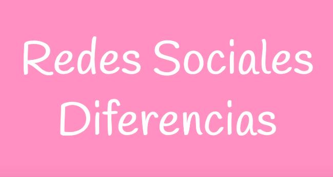Diferencia entre Redes Sociales