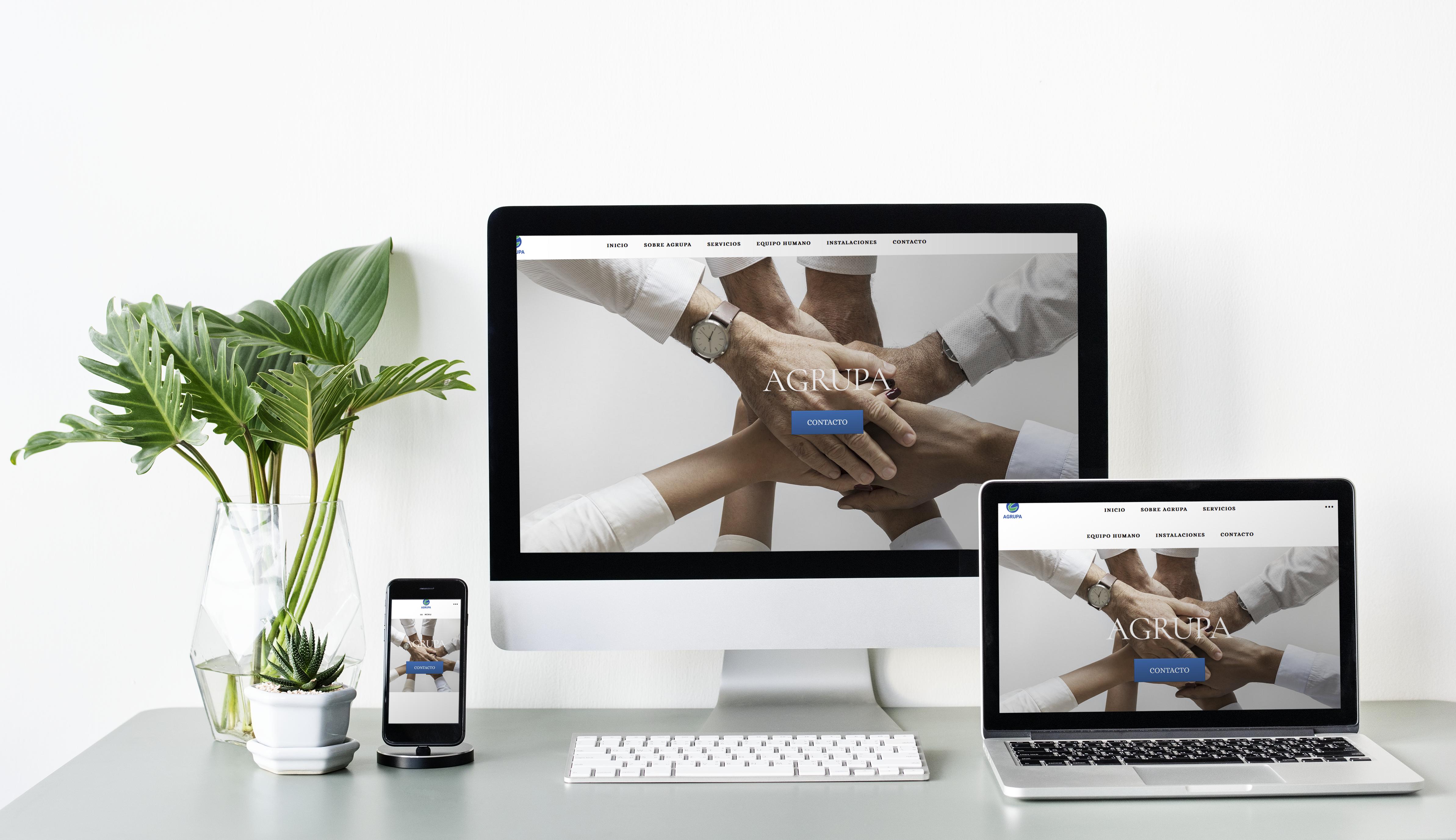 Diseño Web Agrupa Negocios