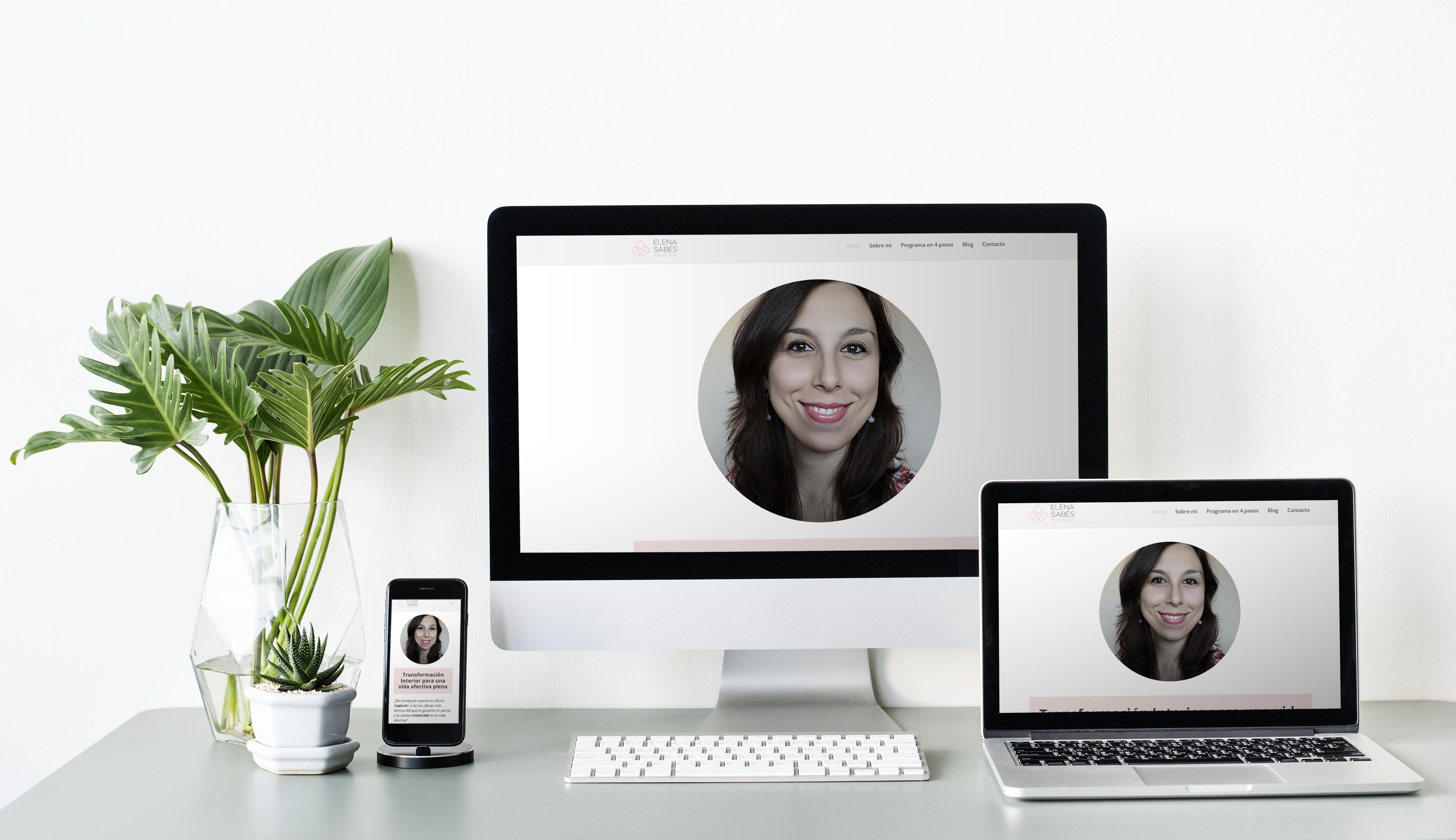 Diseño web Elena Sabés