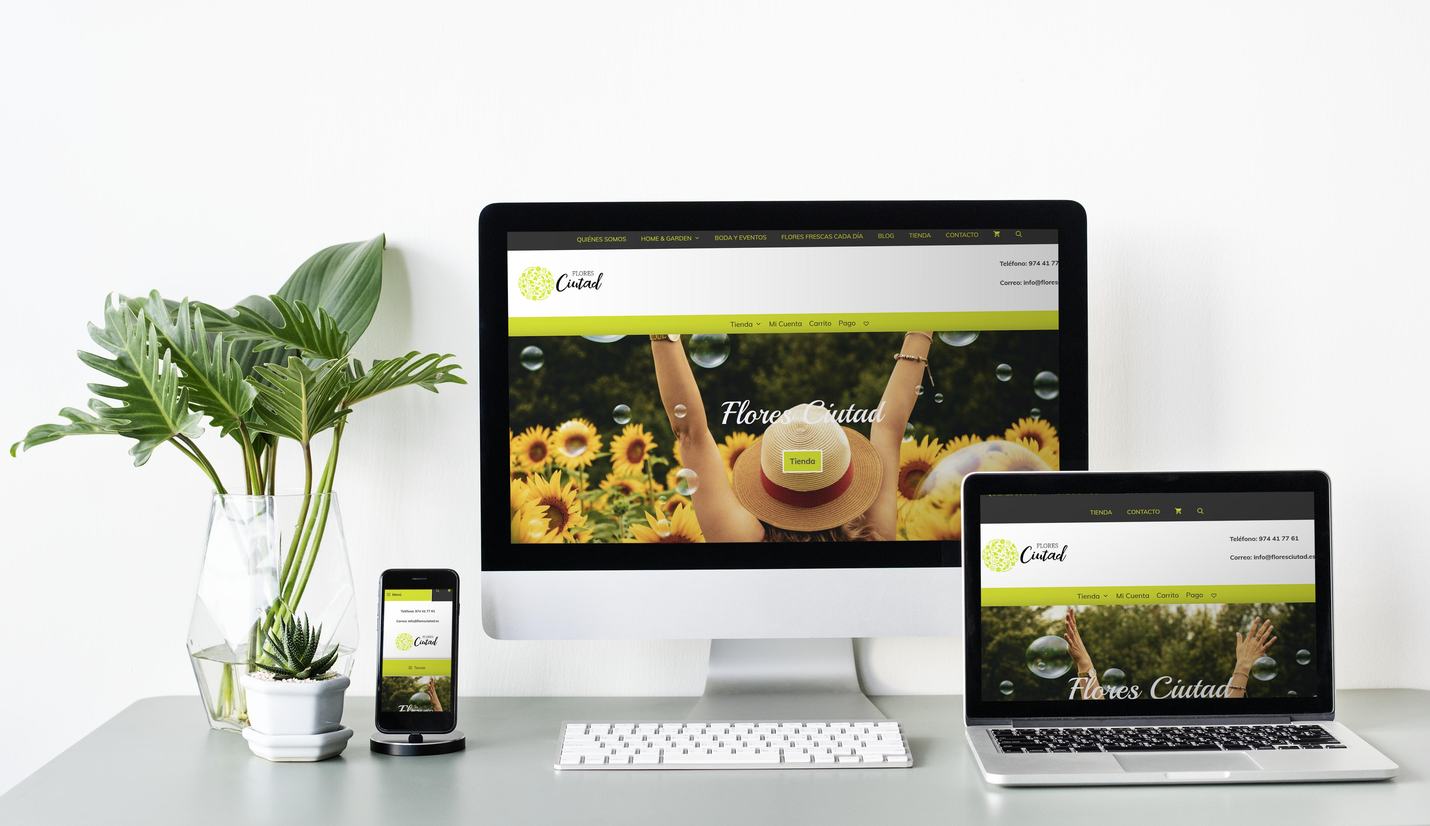 Diseño Web Flores Ciutad