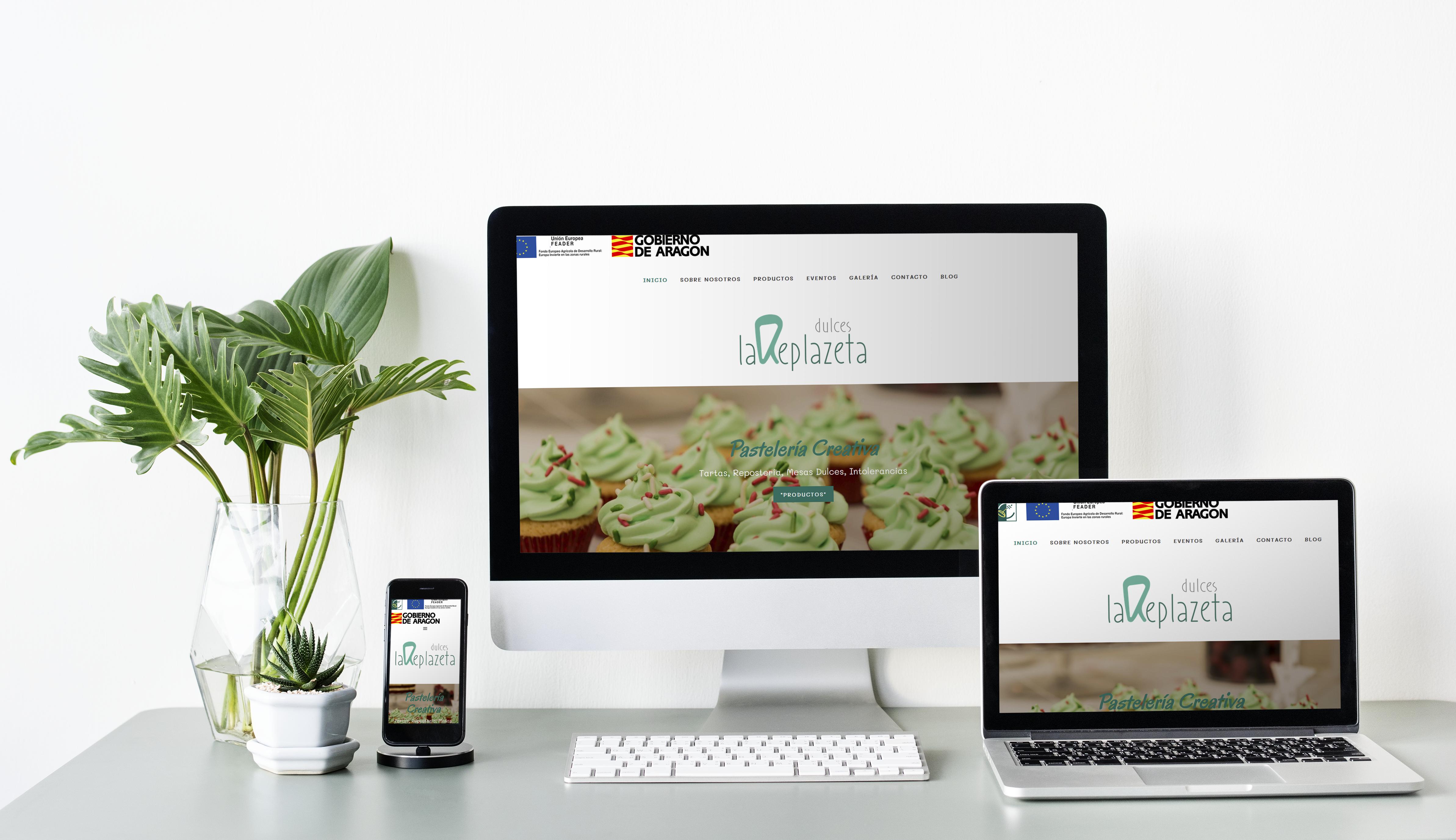 Diseño web Dulces la Replazeta